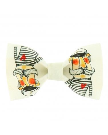 Cravate Rayée Noire et Blanche Vertical
