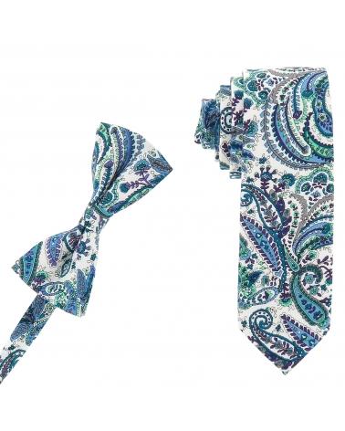 Cravate Liberty slim parme