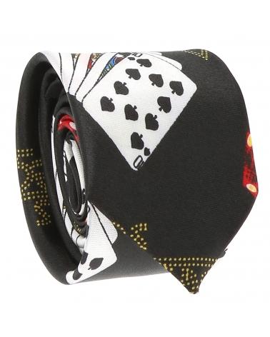 Cravate Slim Noire Premium - Cravate Mariage