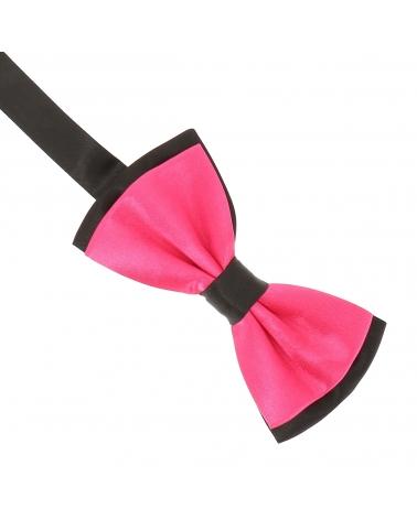 Cravate à Pois Noire et Rose Fantaisie - Cravate pois
