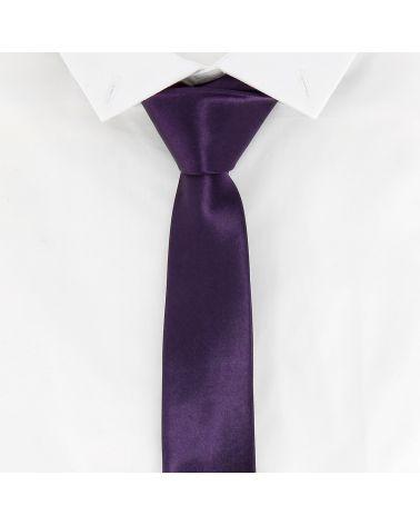 Cravate Slim Violette