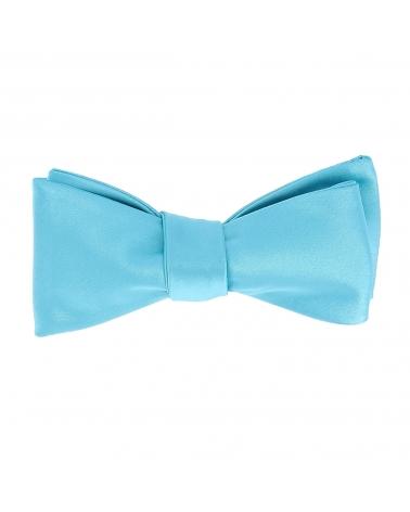 Noeud Papillon à Nouer Bleu turquoise Premium