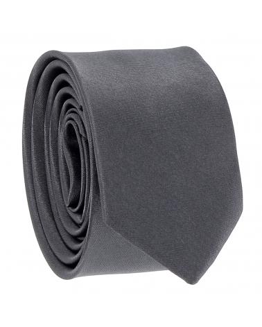 Cravate Slim Gris anthracite