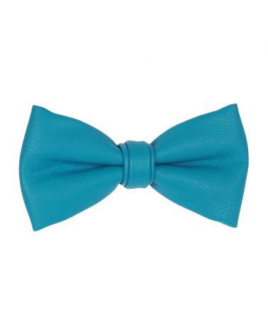 Noeud Papillon Simili cuir Bleu