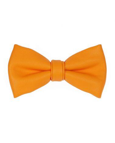 Noeud Papillon Simili cuir Jaune orange