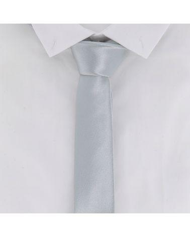 Cravate Slim Gris argent