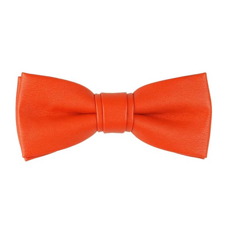 Noeud Papillon Orange Simili cuir