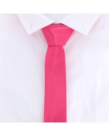 Cravate Slim Rose vif
