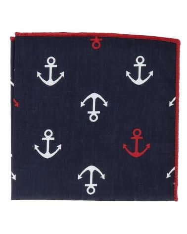 Pochette Costume Coton Encre Marine