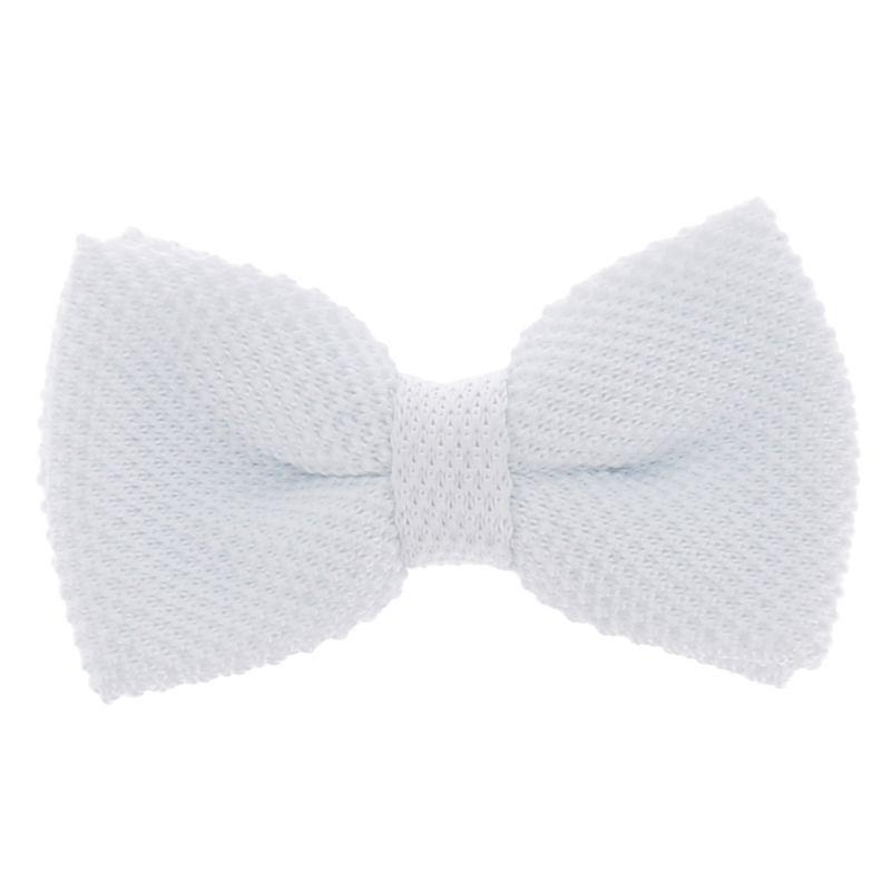 Noeud Papillon Tricot Blanc