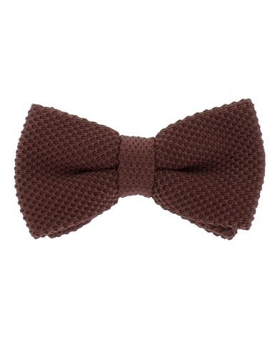 Noeud Papillon Tricot Marron