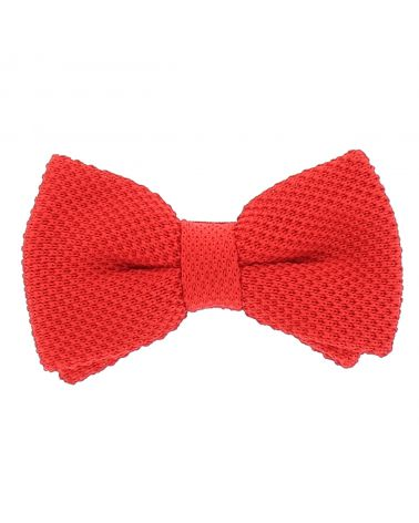 Noeud Papillon Tricot Rouge