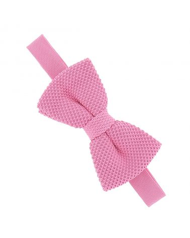 Noeud Papillon Tricot Rose