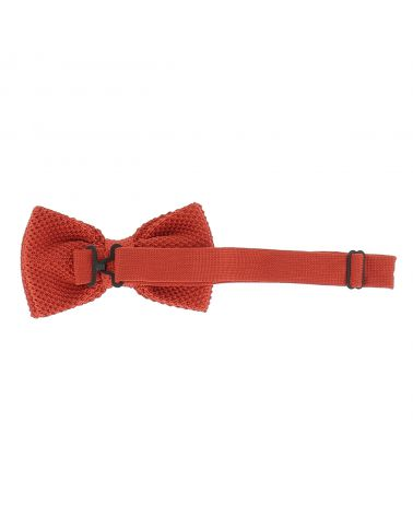 Noeud Papillon Tricot Orange brique