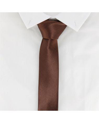 Cravate Slim Marron clair