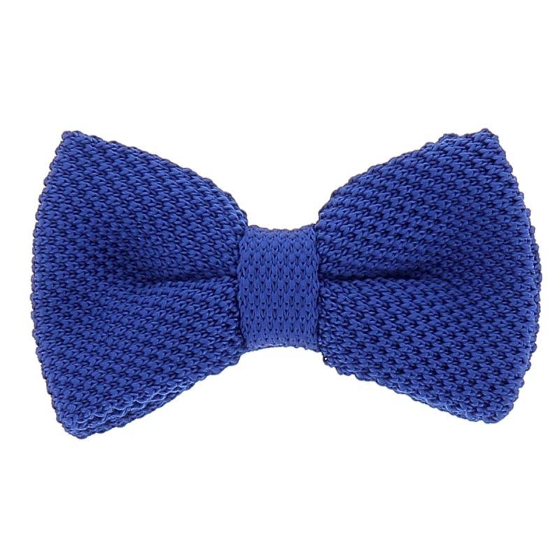 Noeud Papillon Tricot Bleu roi