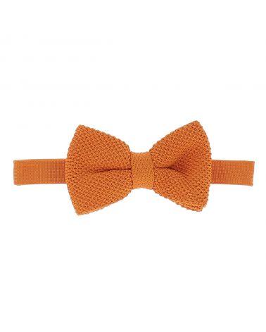 Noeud Papillon Tricot Orange