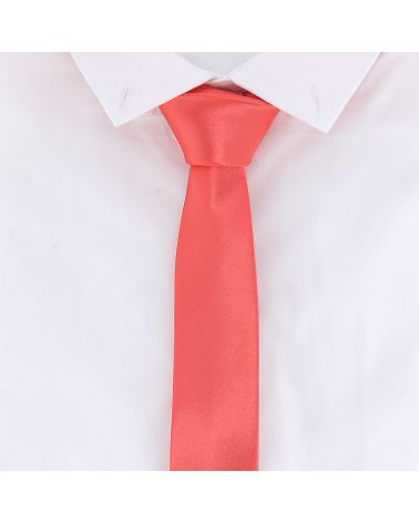 Cravate Slim Corail