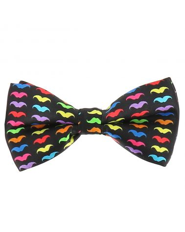 Noeud Papillon Moustache Multicolore