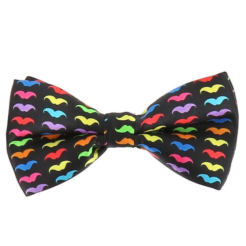 Noeud Papillon Moustache Multicolore
