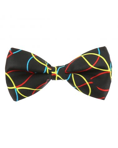 Noeud Papillon Lignes Multicolores