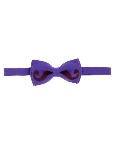Noeud Papillon Moustache Violet et Aubergine