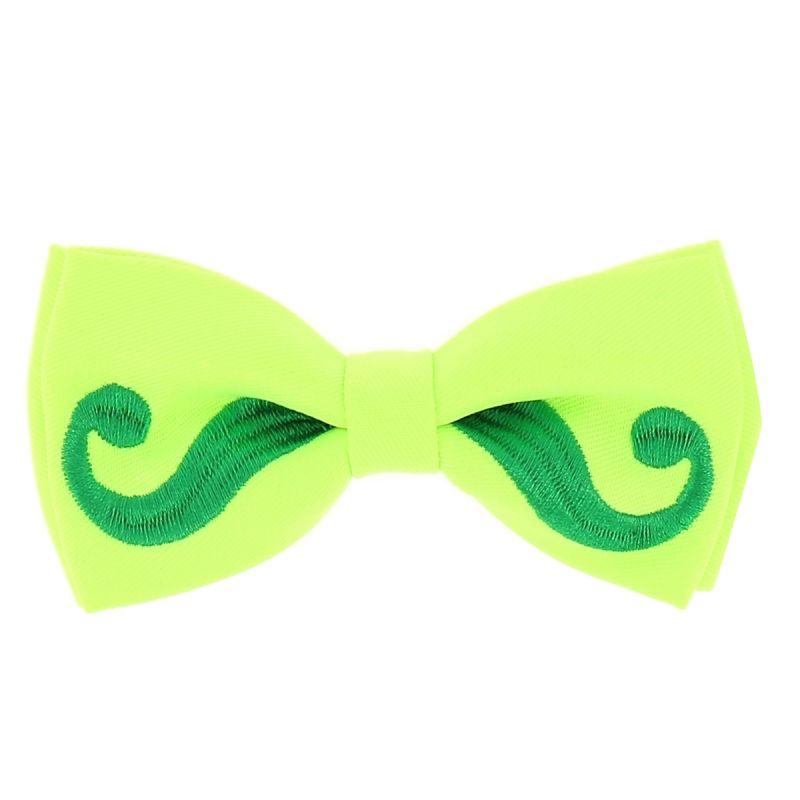 Noeud Papillon Moustache Vert fluo et Vert