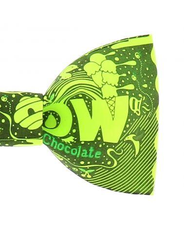 Noeud Papillon Créateur Dessin jaune fluo