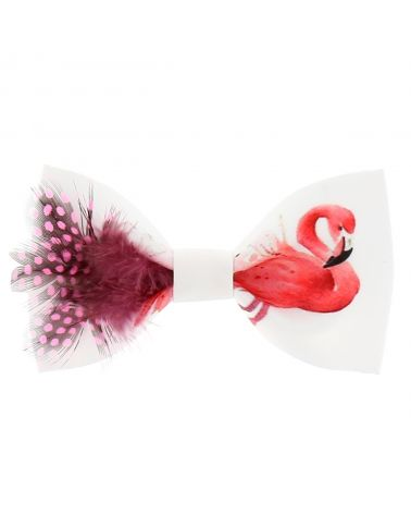 Noeud Papillon Créateur Flamant Rose Plumes