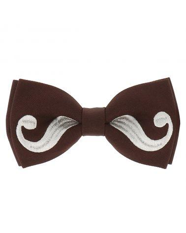 Noeud Papillon Moustache Marron et Gris