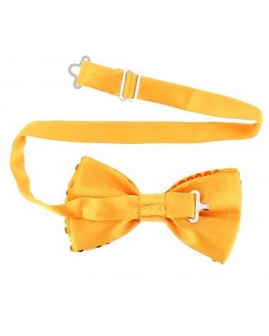 Noeud Papillon Paillette Jaune Orange