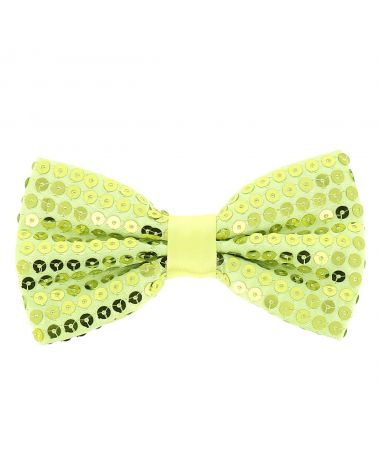 Noeud Papillon Paillette Jaune