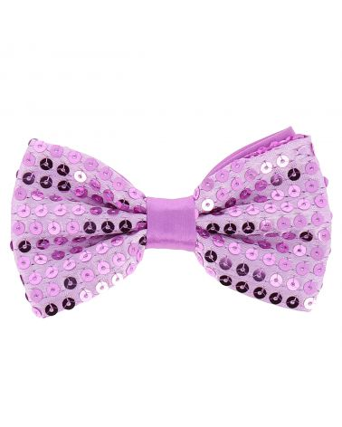 Noeud Papillon Paillette Mauve