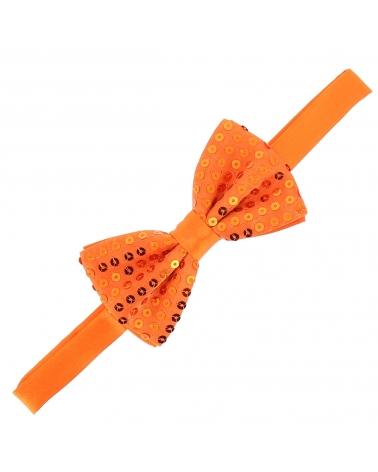 Noeud Papillon Paillette Orange