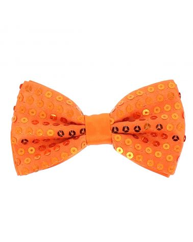 Noeud Papillon Paillette Orange