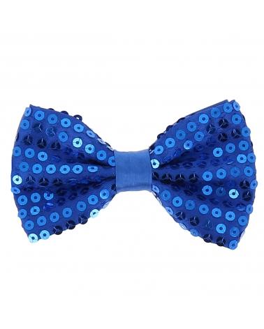 Noeud Papillon Paillette Bleu roi