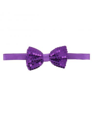 Noeud Papillon Paillette Violet