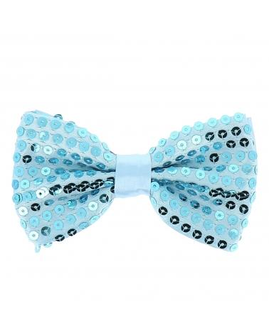 Noeud Papillon Paillette Bleu ciel