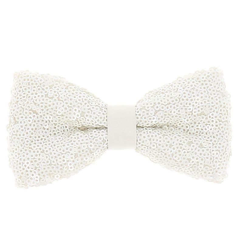 Noeud Papillon Blanc Sequins