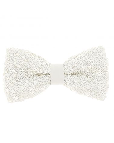 Noeud Papillon Blanc Sequins
