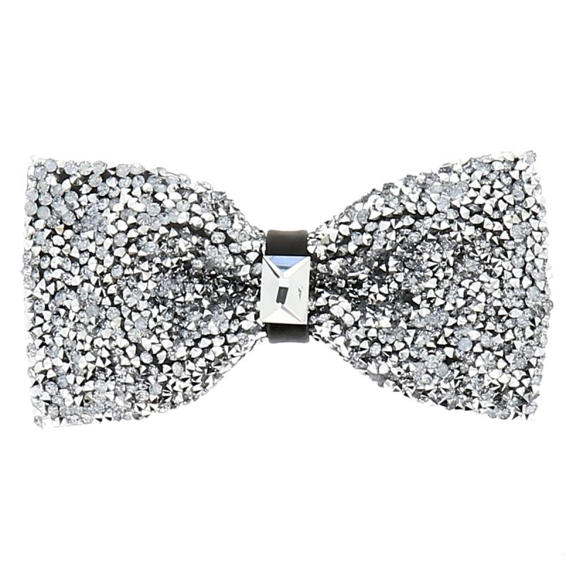 Noeud Papillon Strass Argent