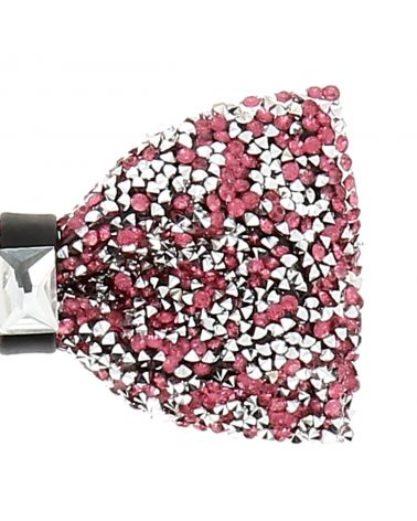Noeud Papillon Strass Rose