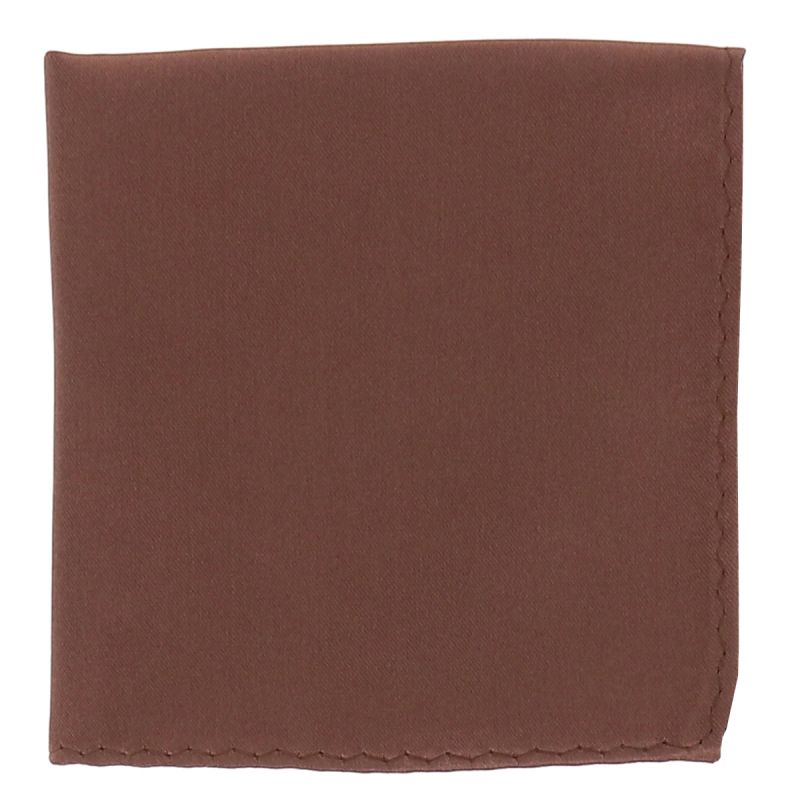 Pochette Costume Marron Clair
