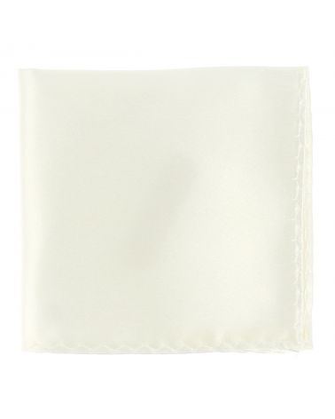 Pochette Costume Blanc Ivoire