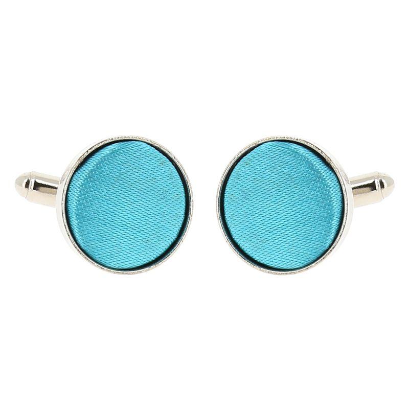 Bouton de Manchette Bleu turquoise