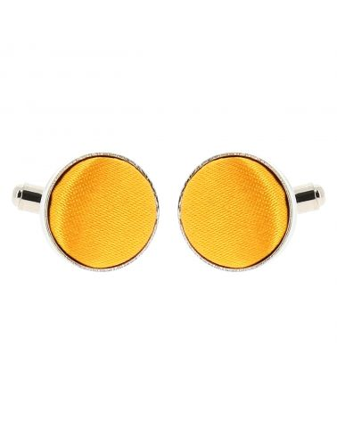 Bouton de Manchette Jaune orange