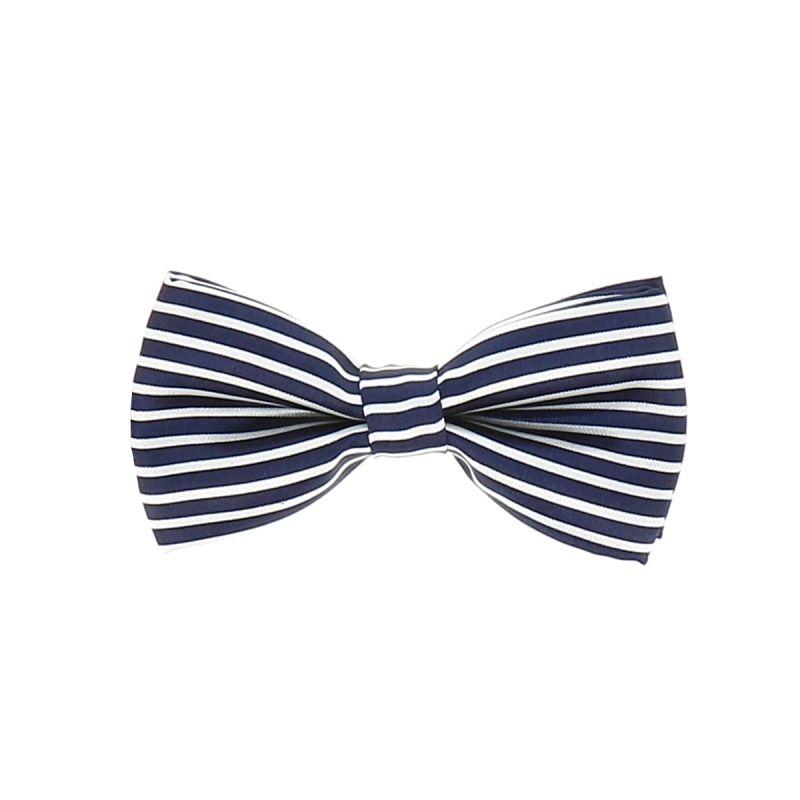 Noeud Papillon Enfant Rayé Bleu marine et Blanc