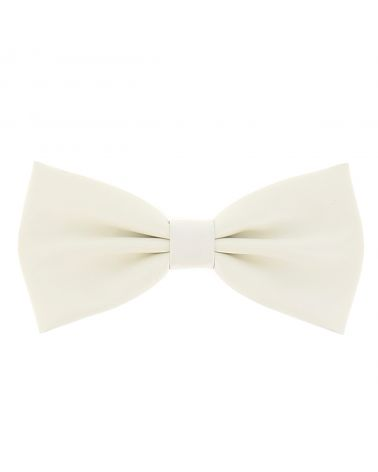 Noeud Papillon Simili Cuir Blanc