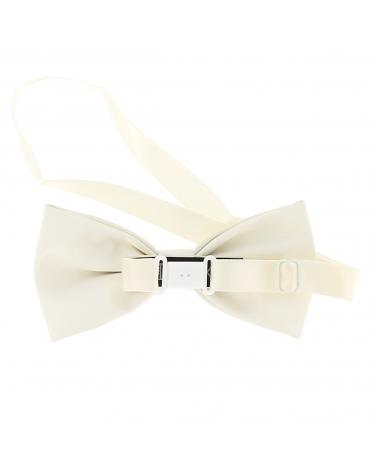 Noeud Papillon Simili Cuir Blanc