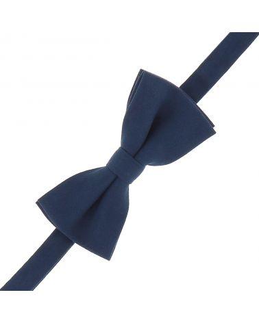 Noeud Papillon Bleu marine Suédine